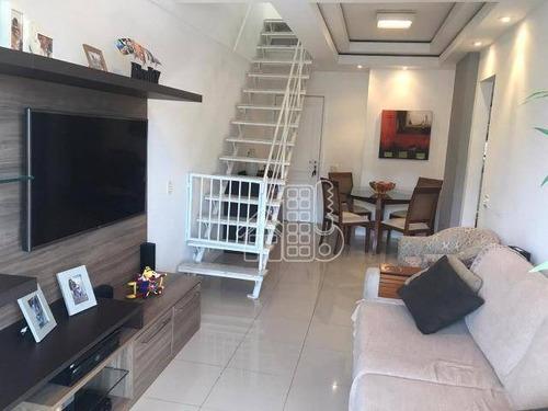 Cobertura Com 2 Dormitórios À Venda, 141 M² Por R$ 880.000,00 - Icaraí - Niterói/rj - Co0387
