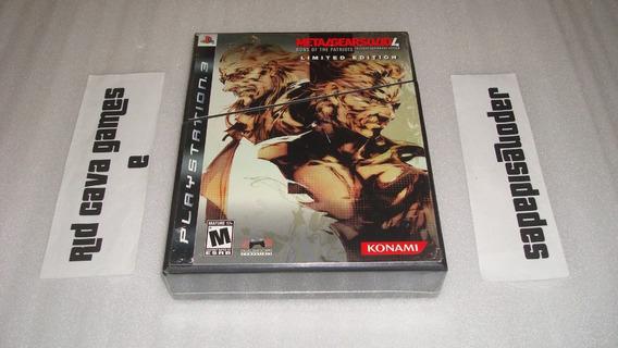 Metal Gear Solid 4 Limited Edition Ps3 - Novo E Lacrado