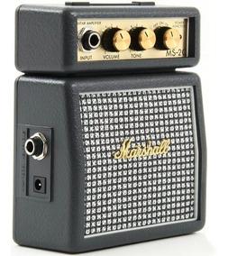 Mini Cubo Amplificador Guitarra Marshall Ms-2c Cinza Ms2