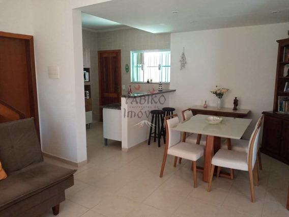 Casa A 30 Metros Da Praia, 02 Suítes, 02 Vagas, Sacada. - V597