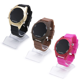 Kit 4 Relógios Feminino Cores Led Atacado E Revenda + Caixa