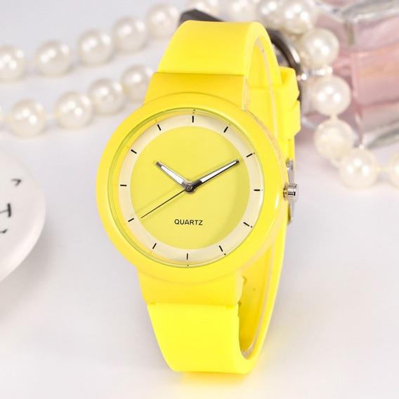 Reloj Pulsera Sport Unisex Amarillo