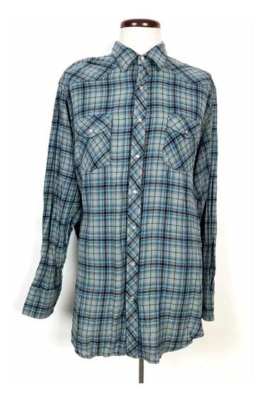 Camisa Vaquera Wrangler Wrancher Shirts 2xl Tall 2xl Big