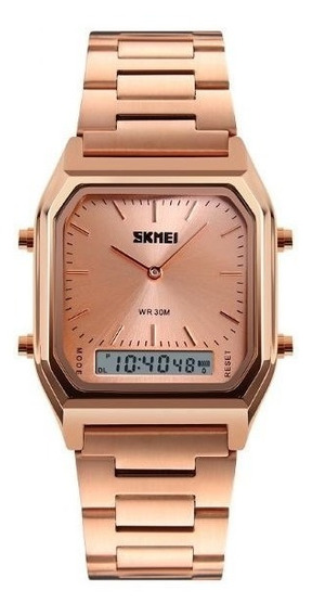 Relógio Feminino Skmei Anadigi 1220 Rosê Frete Gratis