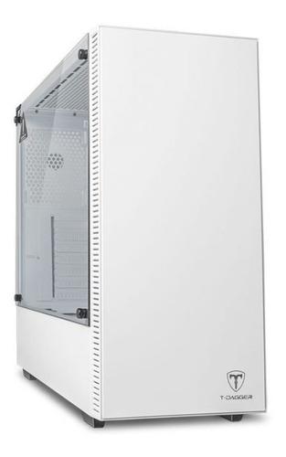 Imagem 1 de 10 de Gabinete Gamer T-dagger Cube Branco Lateral De Vidro - Novo