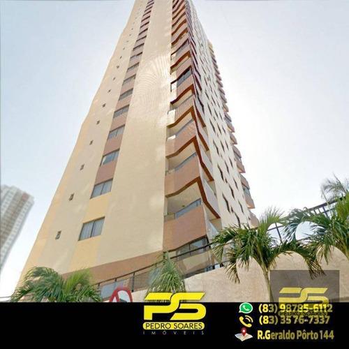 Apt. Alto Padrão C/ 4 Dormitórios À Venda, 203 M² Por R$ 840.000 - Manaíra - João Pessoa/pb - Ap1957