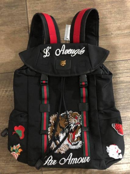 Mochila Backpack Bordada Tipo Guchi Tribanda Envío Gratis