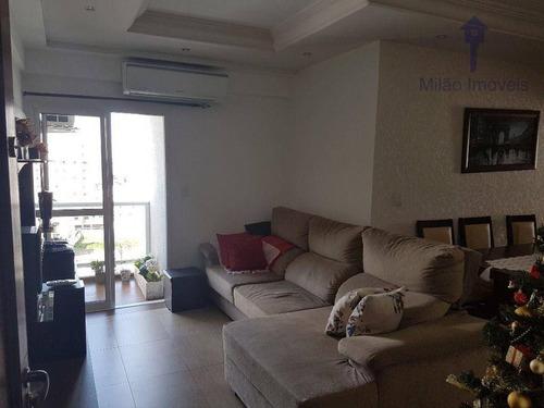 Imagem 1 de 24 de Apartamento 3 Dormitórios À Venda, 90 M², Condomínio Leon D'oro, Parque Campolim Em Sorocaba/sp - Ap1565
