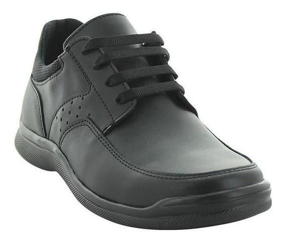 Zapato Escolar Para Niño Montreal Con Agujeta Marca Chabelo