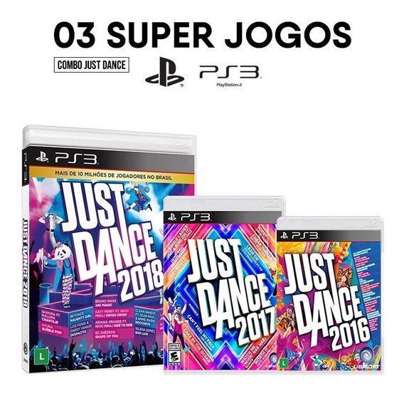 Just Dance 2016 + 2017 + 2018 - Ps3 [ Mídias Físicas ]