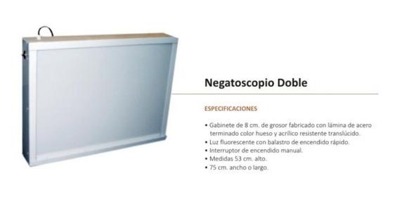 Negatoscopio Luz Fluorescente, Doble Mach Medical