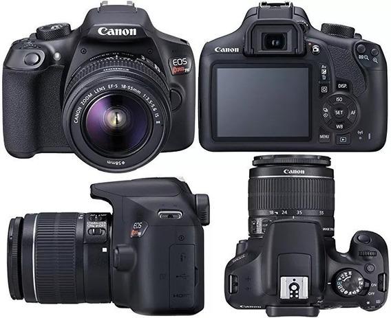 Câmera Canon T6 + 2 Lentes + 2 Baterias
