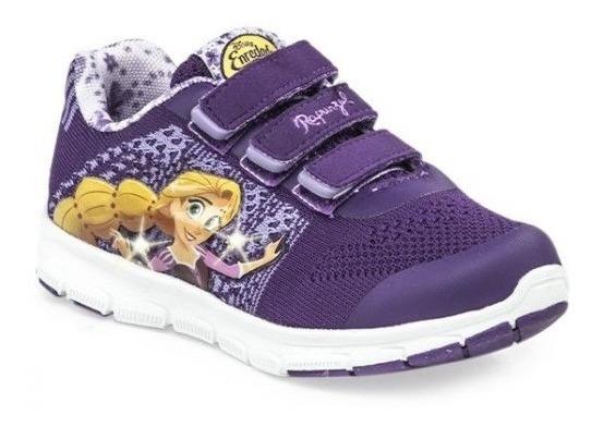 Zapatillas Addnice Flex Rapunzel Velcro Violetas De Niños