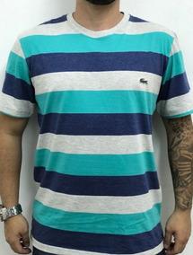 Novas Camisa Masculina Lacoste Listrada Oakley