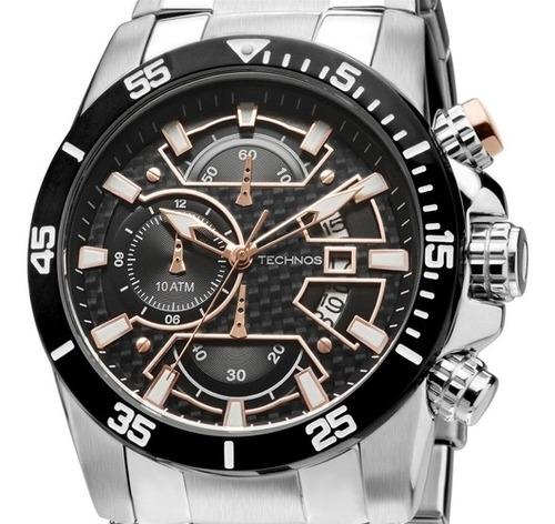 Relógio Technos Masculino Performance Carbon Os10eq/1p