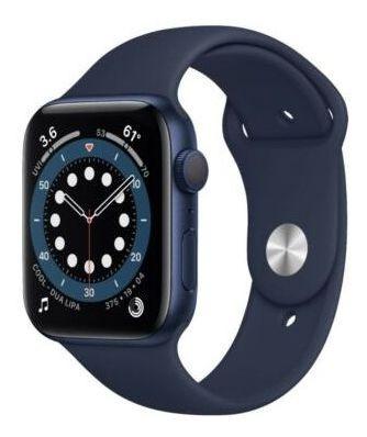 Apple Watch Series 6 Caja De Aluminio Azul De 44 Mm Con C...
