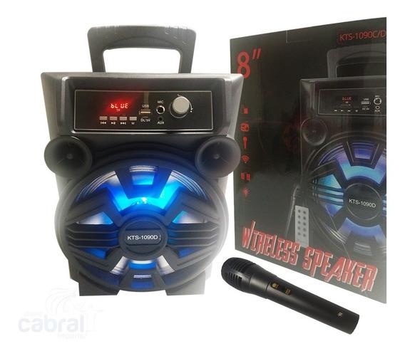 Caixa Som Portátil Bluetooth Wifi Recarregável Microfone