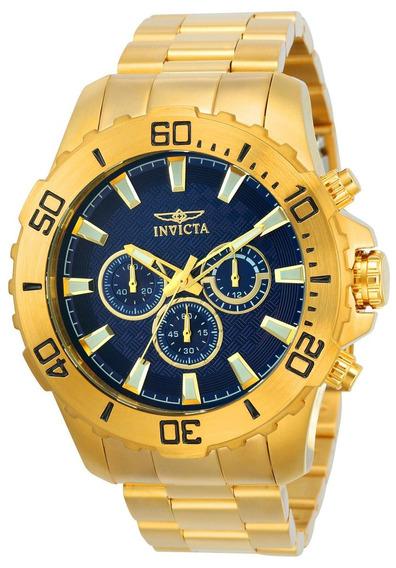Relógio Masculino Invicta Pro Diver 22544 50mm Dourado