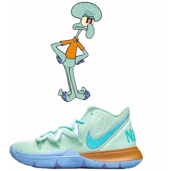 Zapatillas Nike Kyrie 5 Calamardo Tentaculos (bob Esponja)
