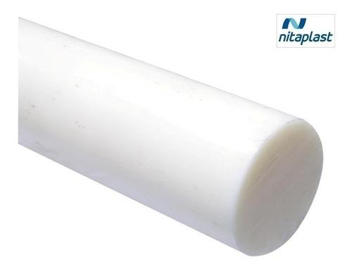 Imagem 1 de 5 de Tarugo Nylon Pa6.0 Redondo Branco Diâm. 25x500mm