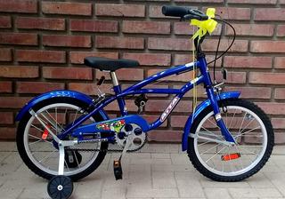 Bicicleta Playera P/niño R14 Con Rueditas