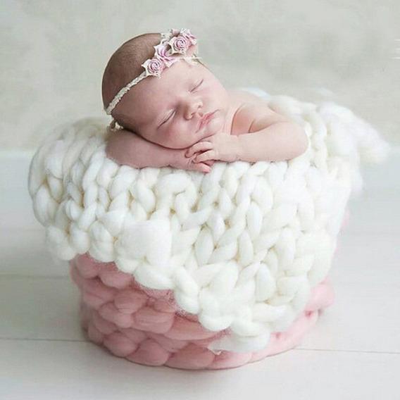 2 Mantas Lã Newborn Props Layer