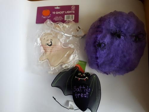 Imagen 1 de 4 de 3 Adornos Halloween Sin Usar Casa De Terror