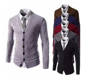 Sueter Formal Elegante Slim Fit Cardigan Blazer Chamarra Env