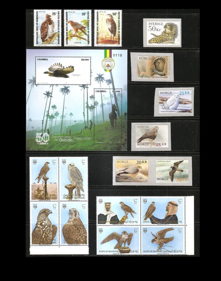 # Mcn # Lote Temático 1983/18 - Aves De Rapina - Séries Mint