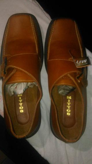 Zapatos Mittos Casuales Para Vestir Talla 43 Marrón Claro.