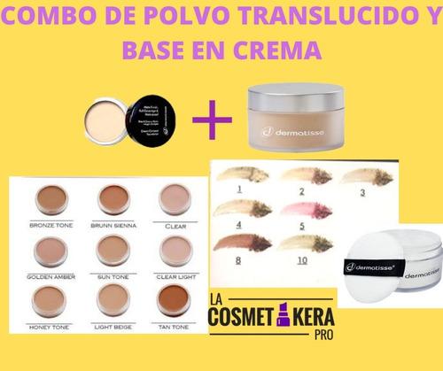 Imagen 1 de 1 de Combo De Maquillaje En Crema Chico Y Polvo Chico Dermatisse