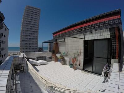 Cobertura Duplex Com 2 Dormitórios À Venda, 100 M² Por R$ 340.000 - Campo Da Aviação - Praia Grande/sp - Co0056