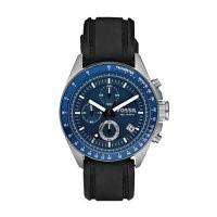 Relógio Fossil Visor Azul Puls.borracha Fch2691z + Frete