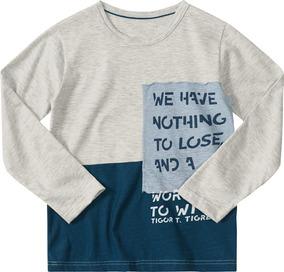 Camiseta Tigor T. Tigre Cinza Bebê Menino 33141