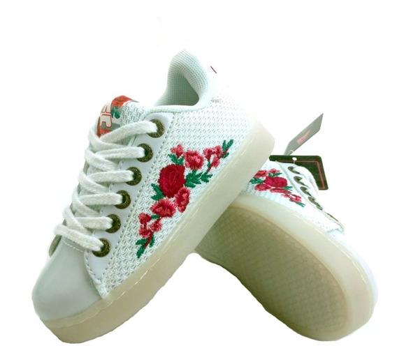 Zapatillas Addnice Rosas Led Usb Niña Lusbrjc01 Empo2000