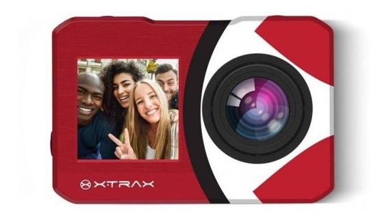 Câmera De Ação Xtrax Selfie 4k Com Controle Remoto Verme