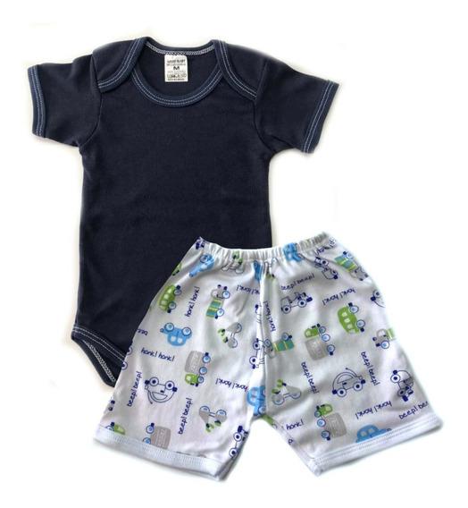 Pijama De Verão Infantil Em Suedine - Bebê Menino