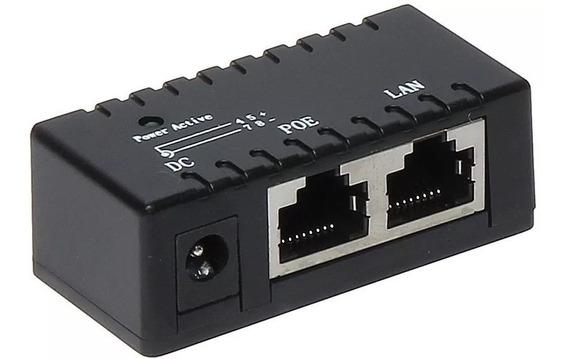 Adaptador Injetor Poe Gigabit 10 / 100 / 1000 Tensão 9-48v