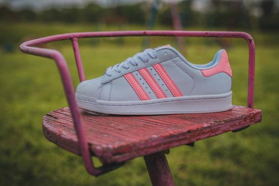 adidas Superstar White/pink