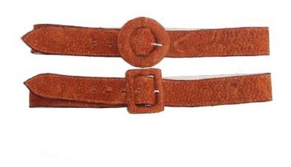 Cinturones Cintos Cuero De Carpincho Anchos 4,5 Cm