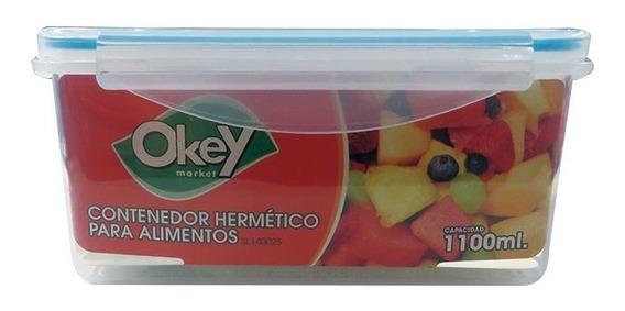 Taper Hermetico Rectangular Okey 1.1 L.