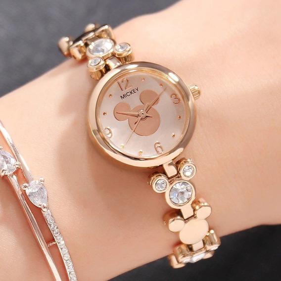 Relógio Mickey Strass Luxo Disney
