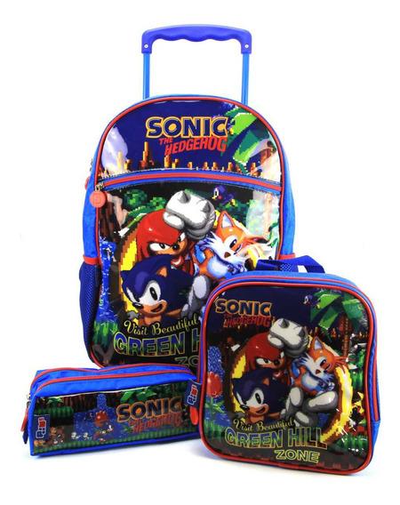 Mochilete G Sonic Kit Com Lancheira E Estojo Pacific 989a01