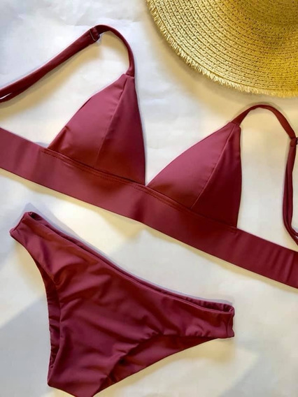 Traje De Baño Bikini Maja Guinda - Wetkini
