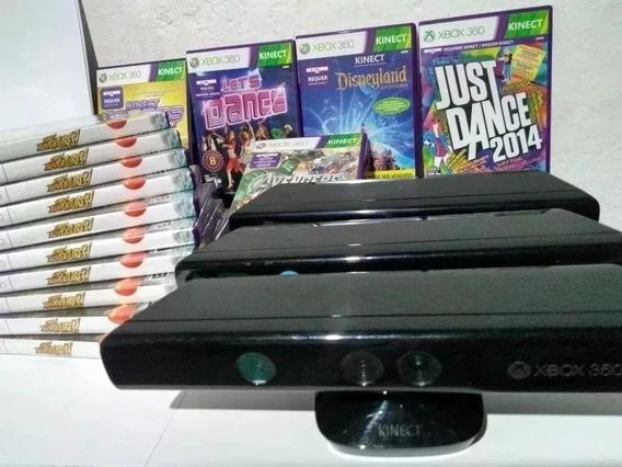 Sensor Kinect Xbox 360 + Jogo Adventures Português Original