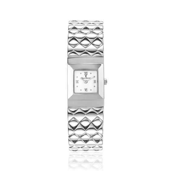 Relógio De Pulso Caixa E Pulseira Aço Jean Vernier Jv05840b