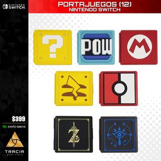 [ Portajuegos Switch ] Estuche Juegos Mario Pokémon | Tracia