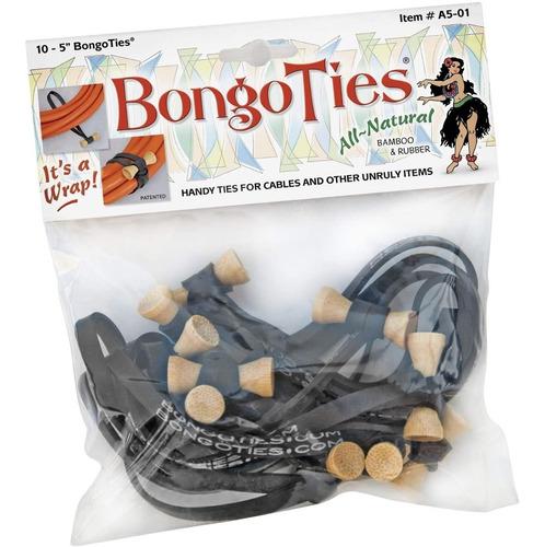 Imagen 1 de 7 de Bongoties Bolsa Con 10u Organizador De Cables Bongo Ties