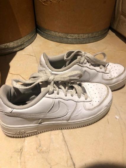 Zapatillas De Cuero Nike Air Talle Talle 35 Usadas