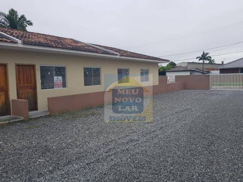 Casa Com 2 Dormitórios À Venda, 48 M² Por R$ 105.000,00 - Mirim - Guaratuba/pr - Ca0250